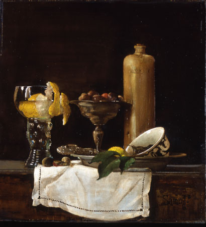 Still Life with the glass of lemonade
